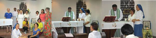 The Lay Salvatorians Renewalists: Anna and Josie with Fr. Prasad, SDS; Sr. Alona, SDS & other Lay Salvatorians